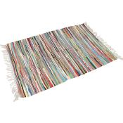 Rag rug 90x50cm assorted colours