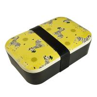 Bamboo lunch box, zebra design