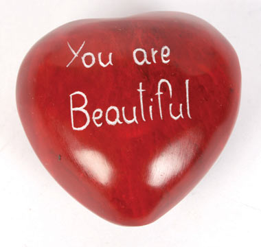 Palewa pebble red heart you are beautiful