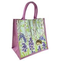 Jute shopping bag, hedgehog