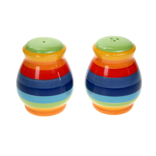 Rainbow salt and pepper set **