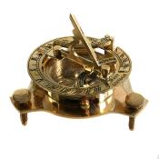 Sundial and compass in brass