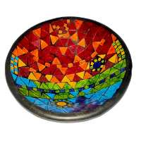 Bowl, mosaic, 30cm rainbow colours
