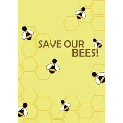 Greetings card Endangered Wildlife Bees 12x17cm