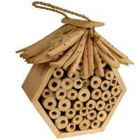 Bee/bug house hexagonal natural colour