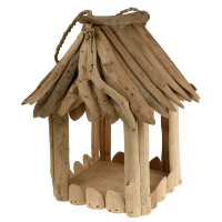 Bird feeder driftwood square