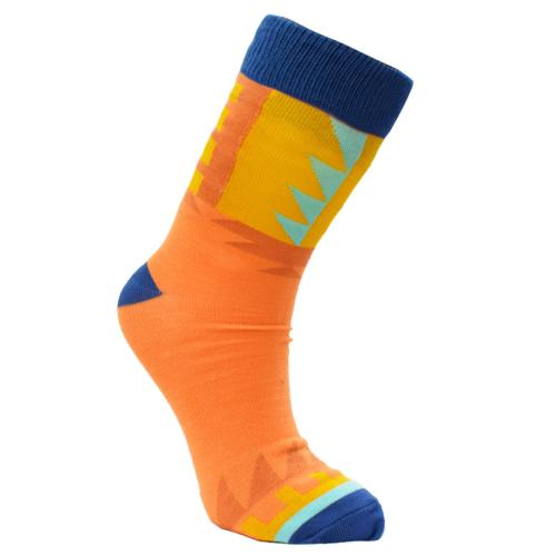 Bamboo socks, orange, Shoe size: UK 3-7, Euro 36-41