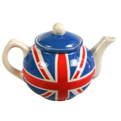 Union Jack painted ceramic teapot **