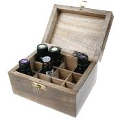 Box for aromatherapy oils, 12 compartments
