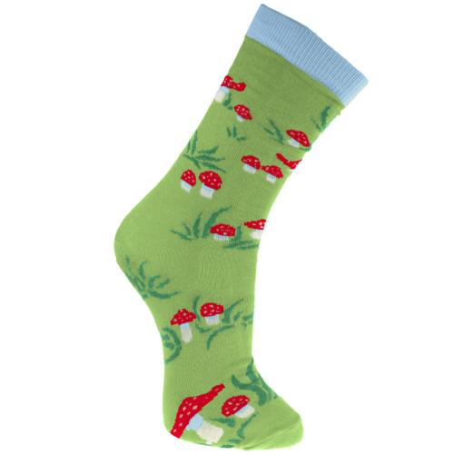 Bamboo socks, toadstools, Shoe size: UK 3-7, Euro 36-41