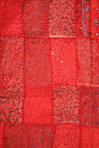 Red patchwork wallhanging
