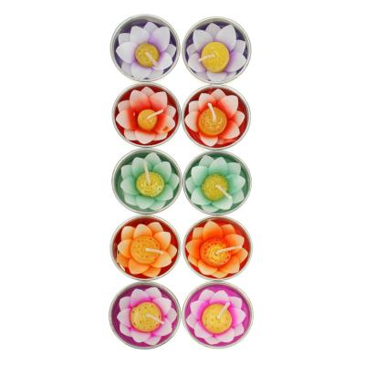 Pack of 10 scented lotus flower t-lights