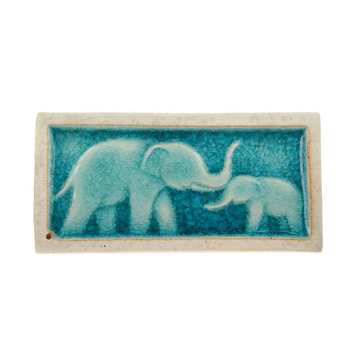 Incense holder elephant with baby **