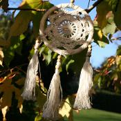 Dreamcatcher crochet with tassels 12cm