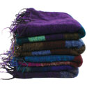 Woollen shawl/stole, 195x80cm, assorted colours