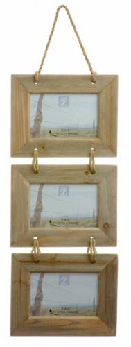 Triple Hanging Rustic Photo Frame **