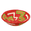 Raffia fruit basket, orange base, 30cm