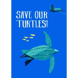 Greetings card Endangered Wildlife Turtles 12x17cm
