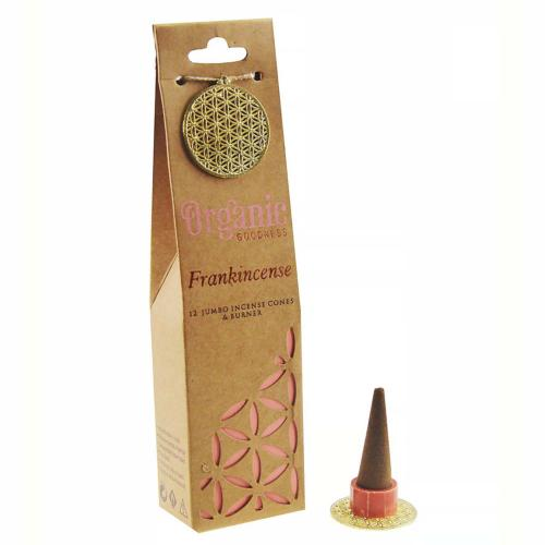 Incense cones & holder, Organic Goodness, frankincense