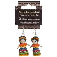 Worry doll earrings 1.5""