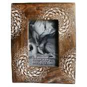 Photo frame, white cut out design, for 6x4inch photo