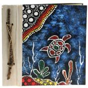Notebook Aboriginal design turtle, 20x20cm