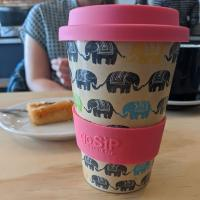 Reusable travel cup, biodegradable, elephants - dare to be different