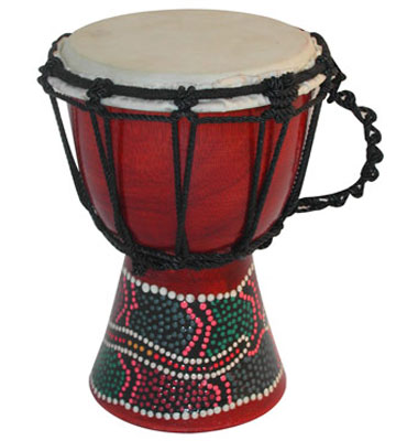 Djembe painted/carved 20cm