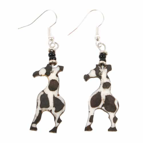 Earrings bone giraffe design