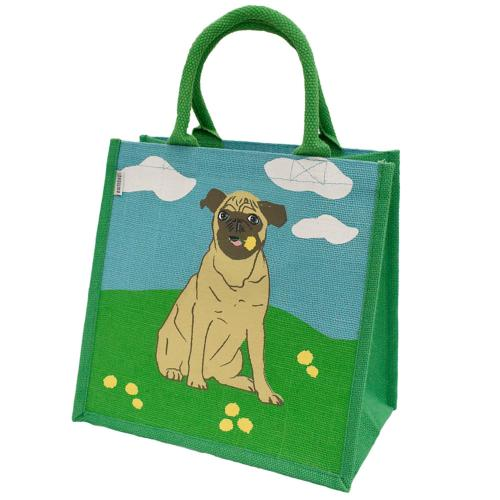 Jute shopping bag, pug
