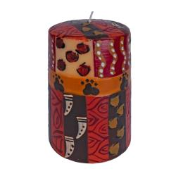 Hand painted candle in gift box, Uzima