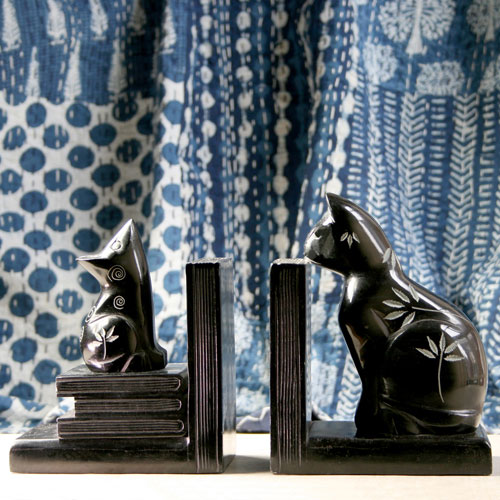 Bookends cat and mouse