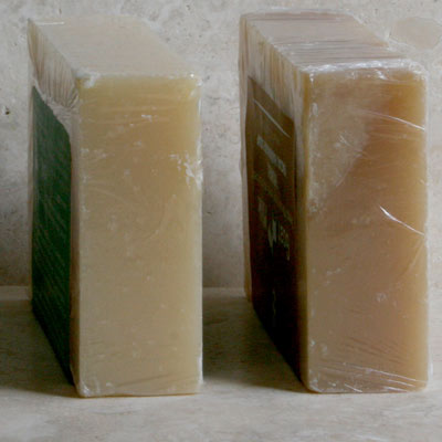 Ordinary v bio cling film soap wrapper - can you tell the difference?