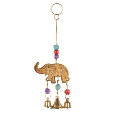 Brass chime mini elephant