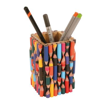 Pen/pencil pot, recycled crayons