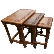 Set of 3 sheesham wood tables