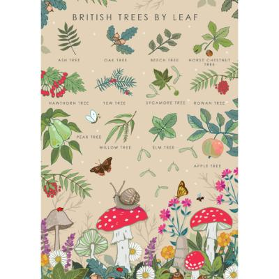 "Greetings card ""British trees"" 12x17cm"