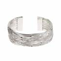 Bangle layered, silver colour