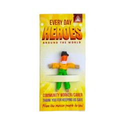 Worry doll mini, frontline worker - community/social worker