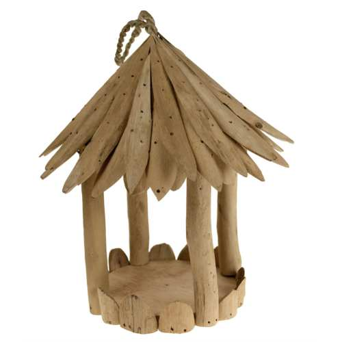 Bird feeder driftwood round