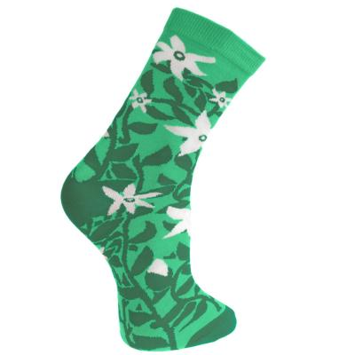 Bamboo socks, vines green, Shoe size: UK 7-11, Euro 41-47