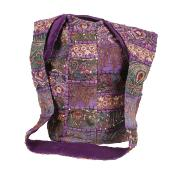 Cross body bag recycled sari purple