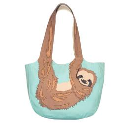 Shoulder bag, cotton, sloth