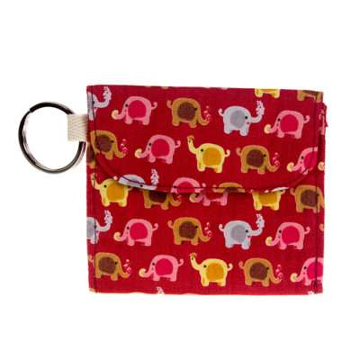Purse, elephant red, 10x8cm
