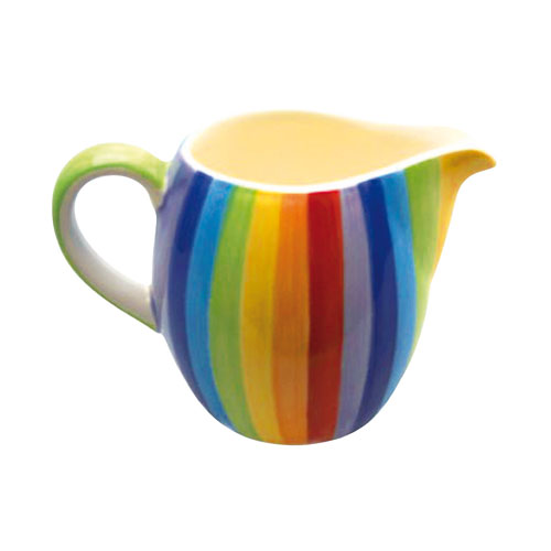 Rainbow Stripes Milk Jug **