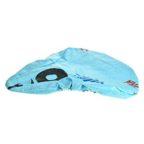 Bike saddle cover, made from recycled bags