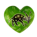 Heart shaped paperweight kudu antelope