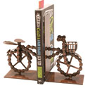 Bike chain bookends bicycle