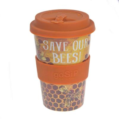 Rice husk cup 14oz, save our bees