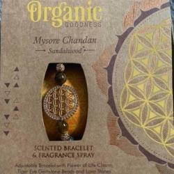Scented bracelet + spray gift set, Organic Goodness, Mysore Chandan Sandalwood